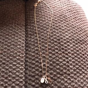 Swarovski rose tone necklace. Never worn
